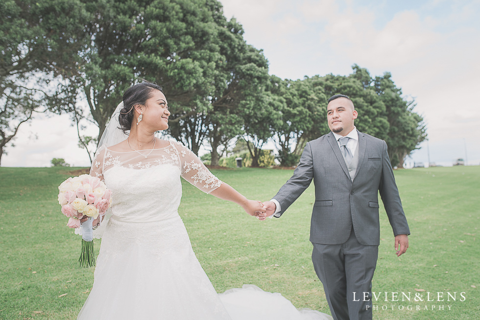 groom follow bride Church Of The Holy Sepulchre - Bastion Point {Auckland NZ lifestyle wedding-engagement photographer}