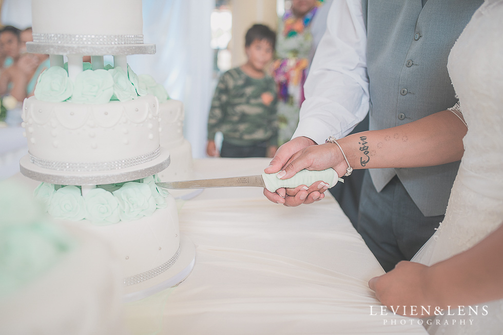 cake cutting reception {Auckland NZ lifestyle wedding-engagement photographer} Malaeola community centre