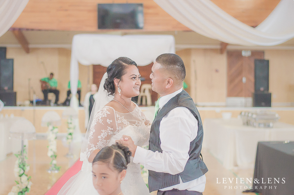 first dance bride with father reception {Auckland NZ lifestyle wedding-engagement photographer} Malaeola community centre