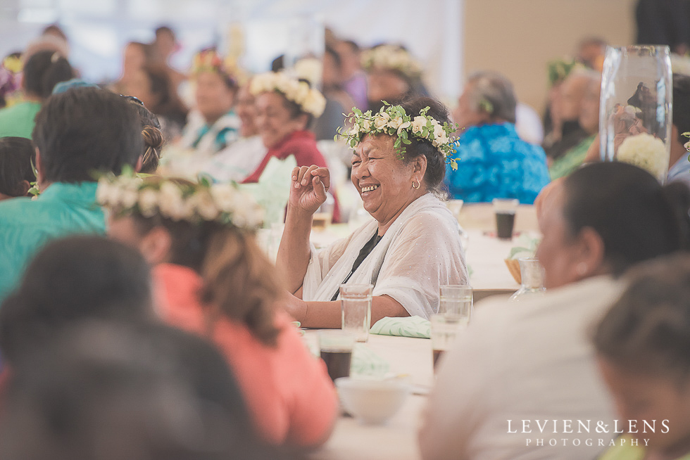 guests laughing reception {Auckland NZ lifestyle wedding-engagement photographer} Malaeola community centre