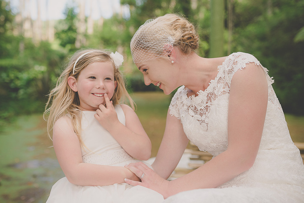 flower girl and bride Mothers on wedding - Mother's Day feature {New Zealand lifestyle couples-engagement photographer}