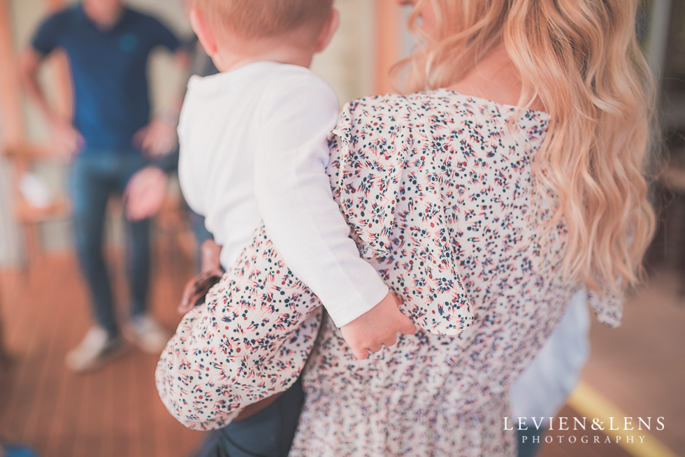 mother with baby Butterfly Creek Minions birthday party {Auckland NZ event photographer} Nazar 1 year old