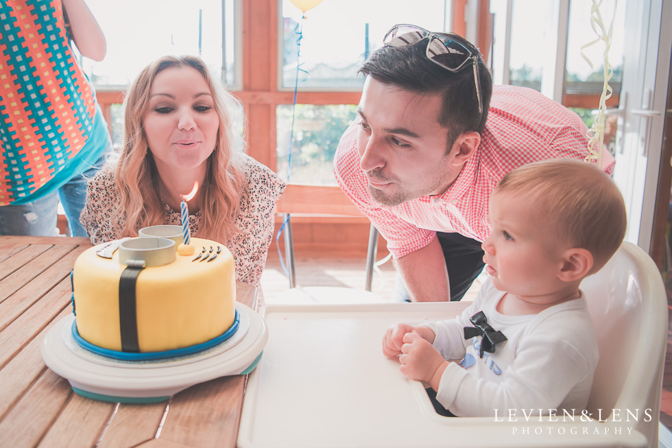 blowing candles Butterfly Creek Minions birthday party {Auckland NZ event photographer} Nazar 1 year old