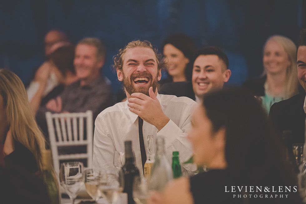 guests laughing - reception - St Margarets Cafe - Karaka {Auckland lifestyle wedding photographer}