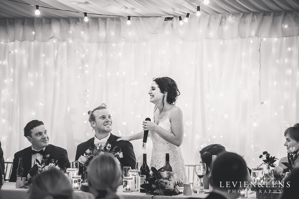 bride speech - reception St Margarets Cafe - Karaka {Auckland lifestyle wedding photographer}