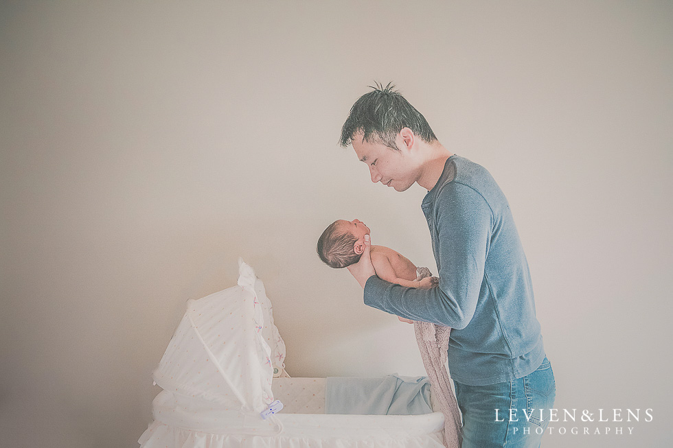 dad with baby - in home session {Hamilton NZ lifestyle family-newborn-kids photographer}