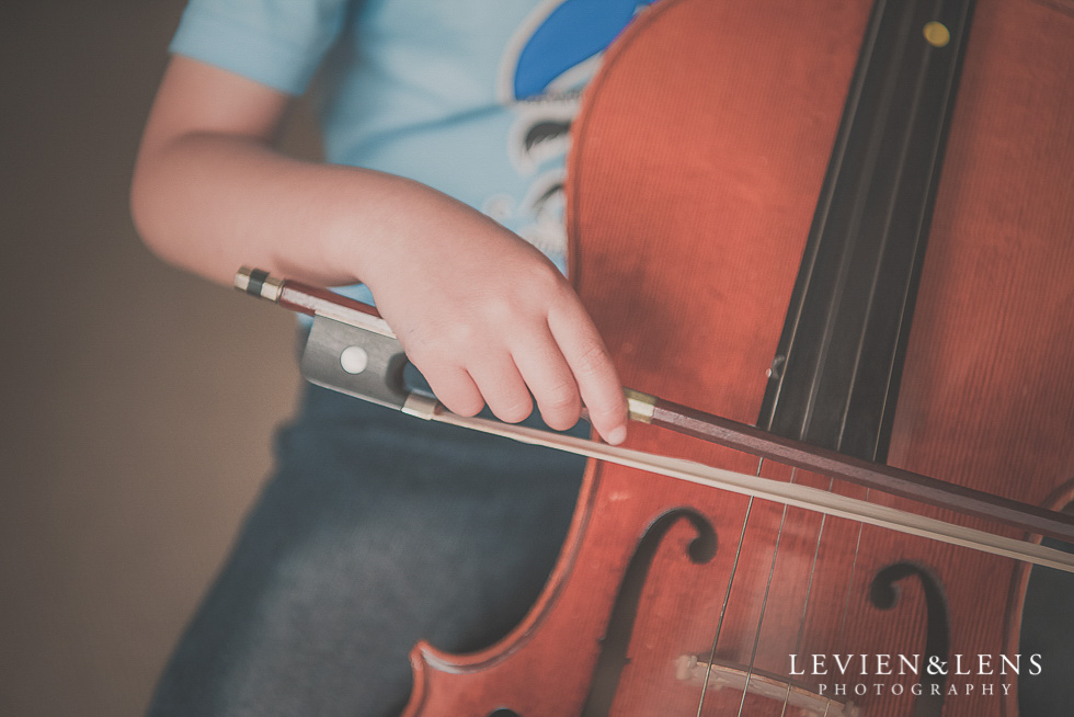 boy with violin in home session {Hamilton NZ lifestyle family-newborn-kids photographer}