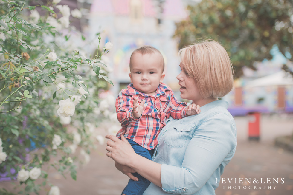 boy with nanny Rainbows End birthday party {Auckland lifestyle event-family-kids photographer}