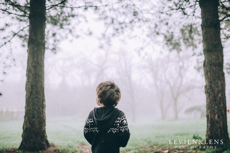 boy in fog forest {Hamilton - Waikato lifestyle photographer}