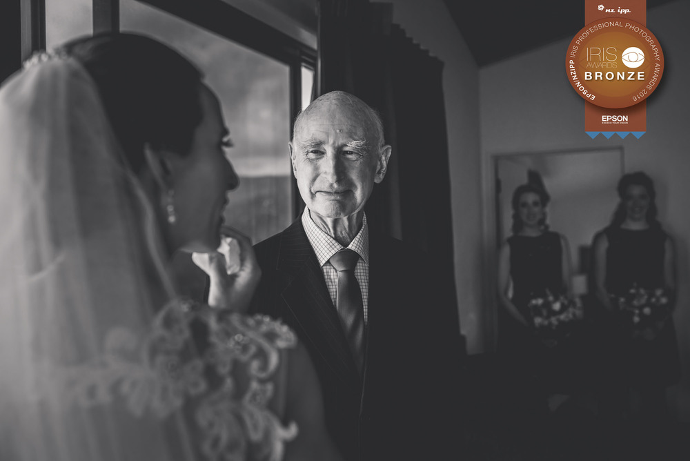 Award winning wedding photographer New Zealand - Iris Awards