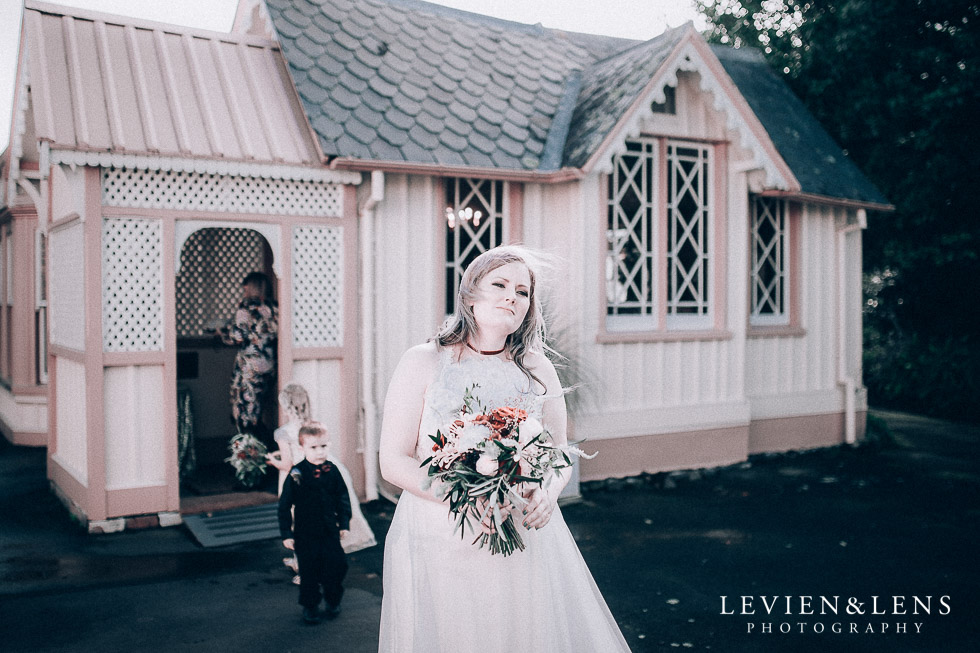 bride walking to ceremony - Highwic historic house-museum winter wedding {Auckland NZ lifestyle weddings photographer}
