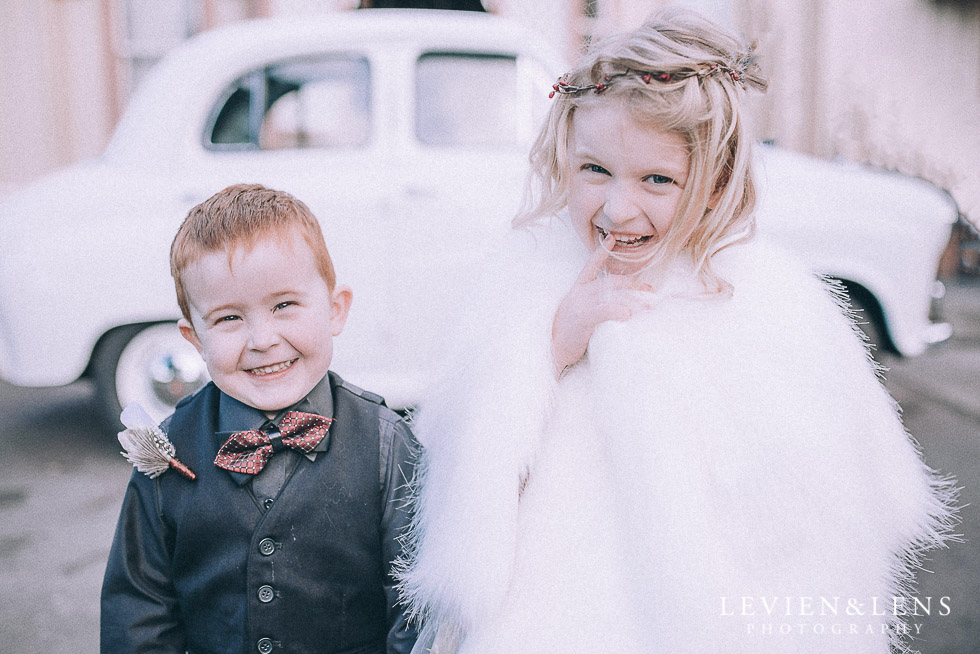 flower girl and ring bearer - Highwic historic house-museum winter wedding {Auckland NZ lifestyle weddings photographer}