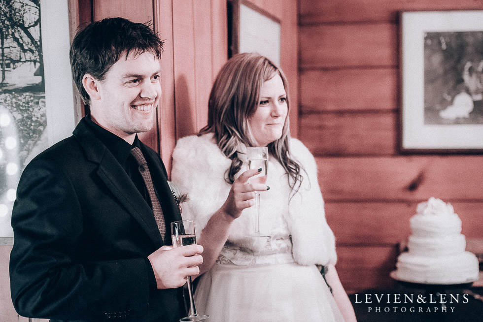 bride and groom at speeches - reception Highwic historic house-museum winter wedding {Auckland NZ lifestyle weddings photographer}