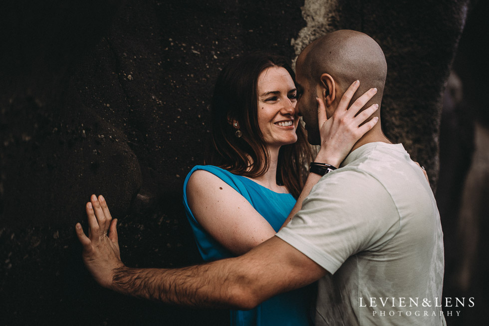 sweet moments - Muriwai Beach couples-engagement photo shoot {Auckland wedding photographer}