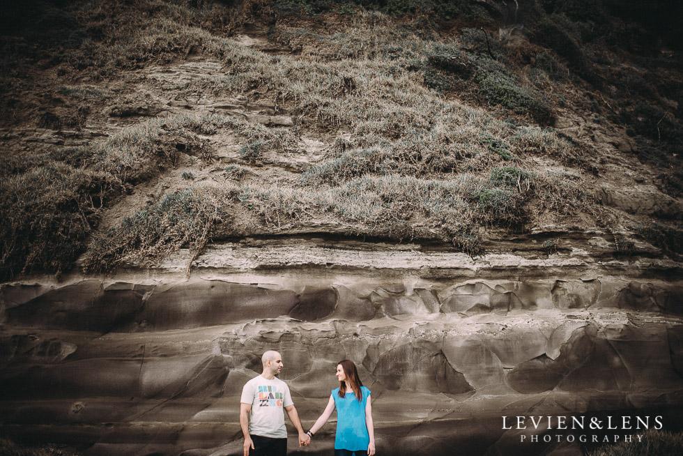 hills texture - Muriwai Beach couples-engagement photo shoot {Auckland wedding photographer}