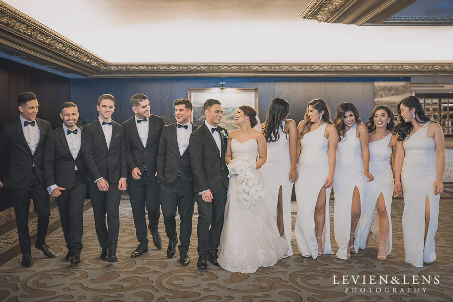 bridal party laughing - Langham Hotel Wedding {Auckland-NZ wedding photographer}