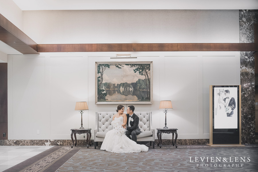 bride and groom - hall Langham Hotel Wedding {Auckland-NZ wedding photographer}