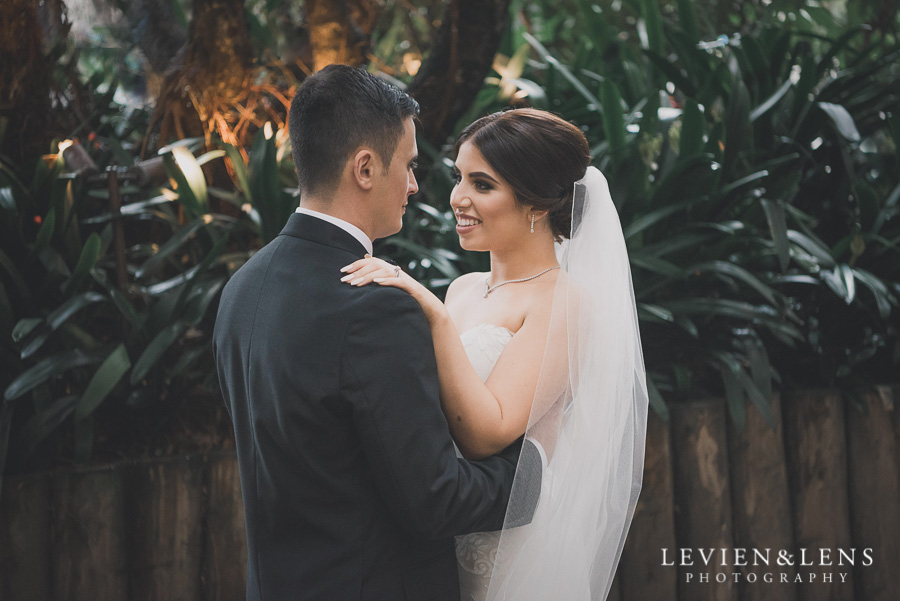 bride and groom intimate session outside - Langham Hotel Wedding {Auckland-NZ wedding photographer}