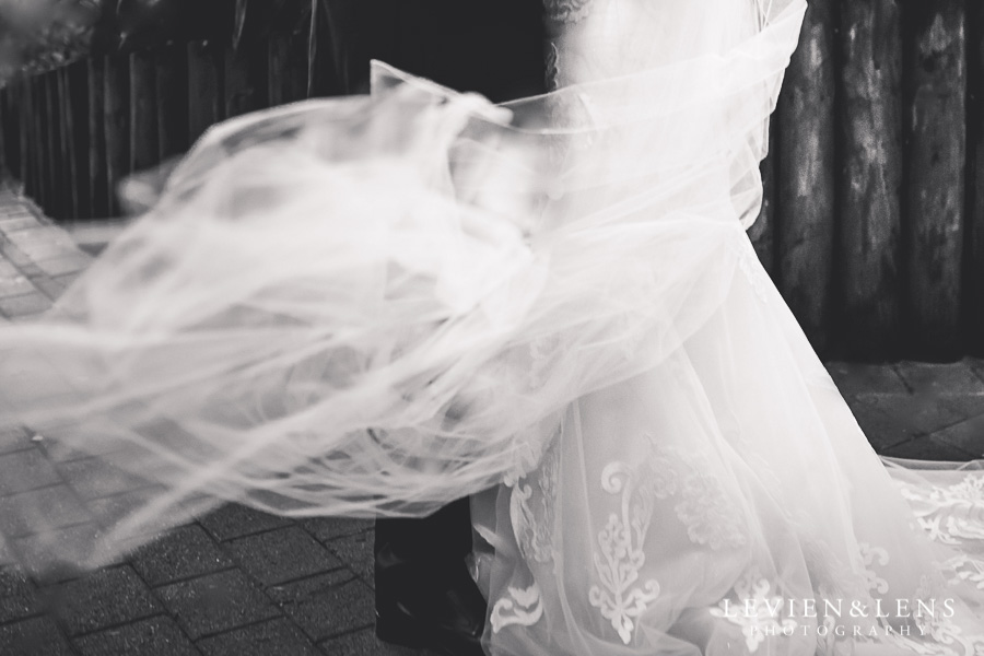 details veil - bride and groom intimate session outside - Langham Hotel Wedding {Auckland-NZ wedding photographer}