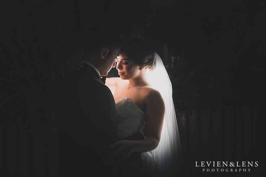 night photography - bride and groom intimate session outside - Langham Hotel Wedding {Auckland-NZ wedding photographer}