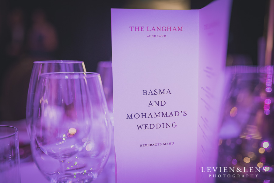 reception details - Langham Hotel Wedding {Auckland-NZ wedding photographer}