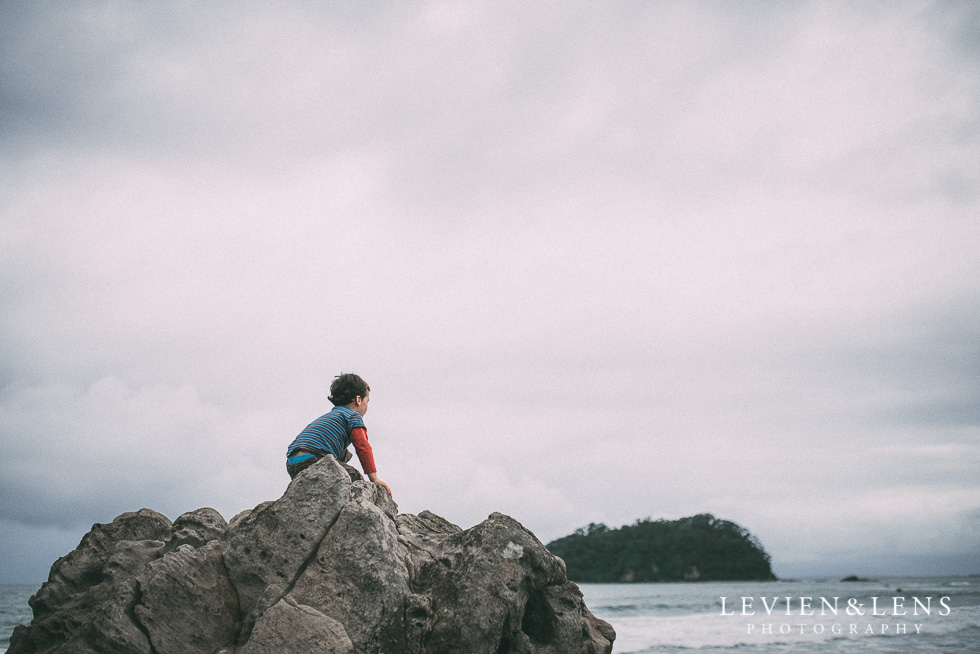 boy on rocks - One little day in Tauranga - personal everyday moments {Hamilton NZ wedding photographer} 365 Project