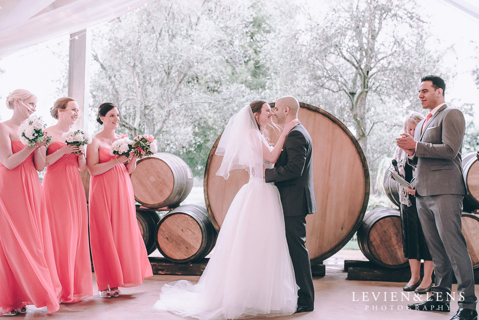 first kiss ceremony - Markovina Vineyard Estate - Kumeu {Auckland wedding photographer}
