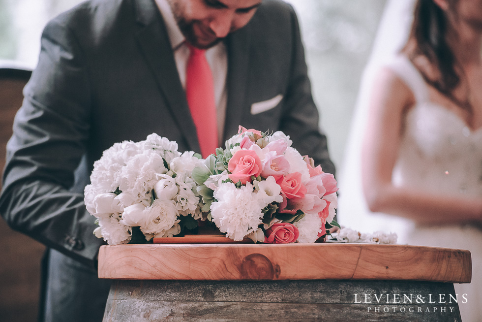 signing the register - Markovina Vineyard Estate - Kumeu {Auckland wedding photographer}