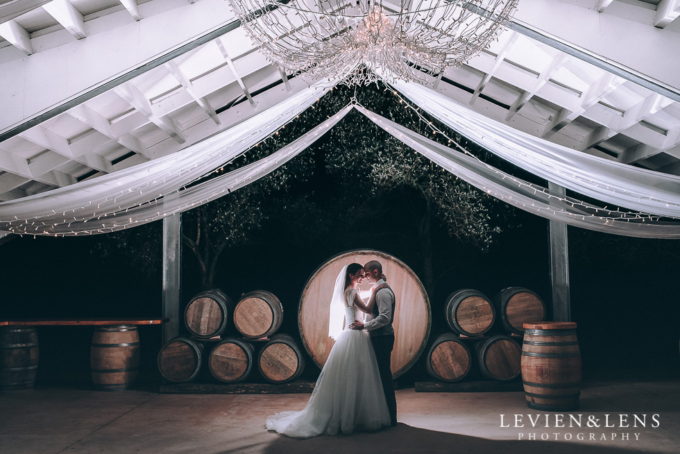 bride and groom night photography - Markovina Vineyard Estate - Kumeu {Auckland wedding photographer} intimate