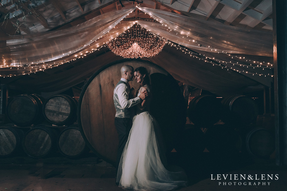 bride and groom night photography flash - Markovina Vineyard Estate - Kumeu {Auckland NZ wedding photographer}