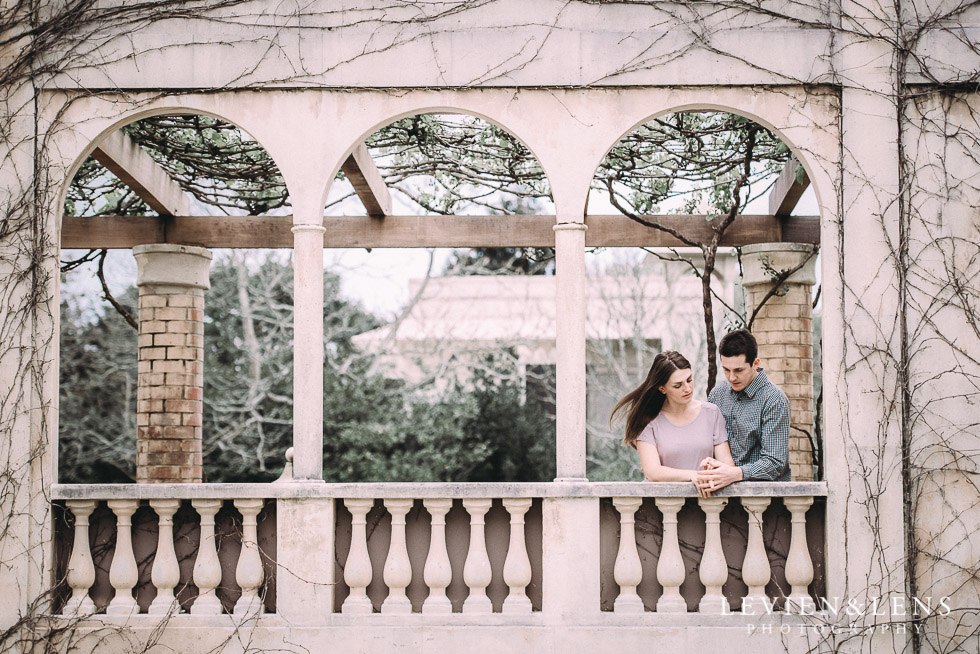 balcony - Hamilton Gardens engagement photo shoot {New Zealand wedding - couple photographer}