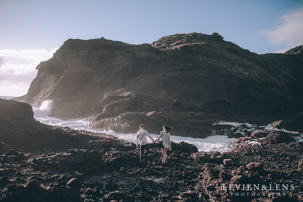 waves - Piha Beach couples photo shoot {Auckland wedding-engagement photographer NZ}
