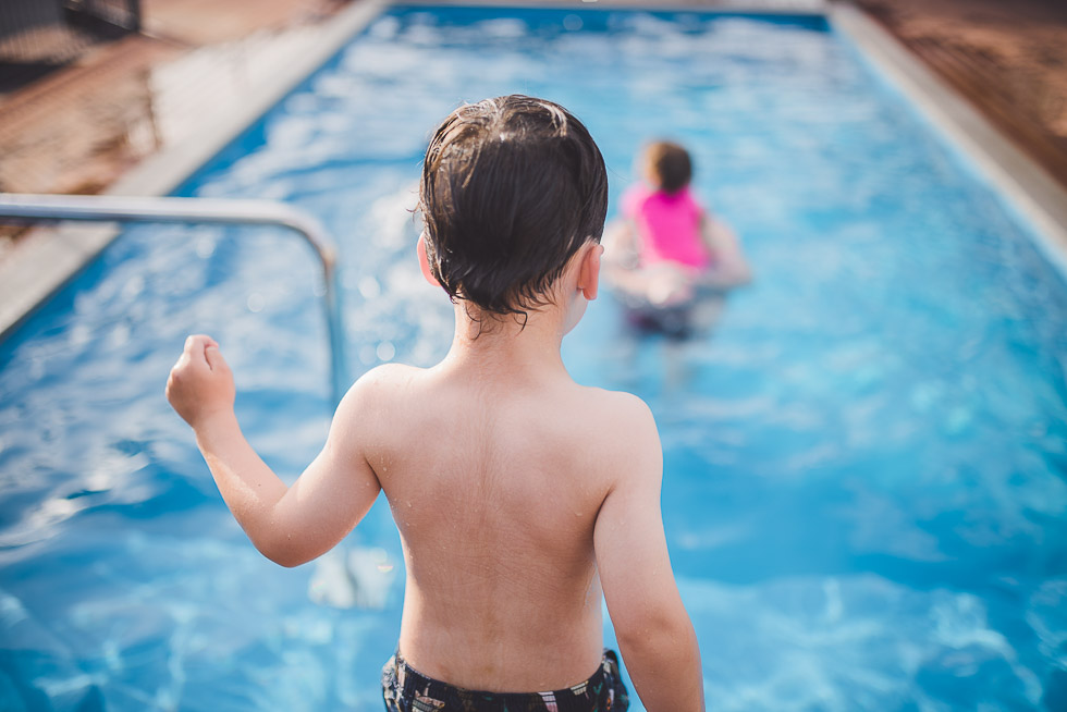 boy near swimming pool - My personal moments in 365 Project - November 2016 {NZ family photographer}