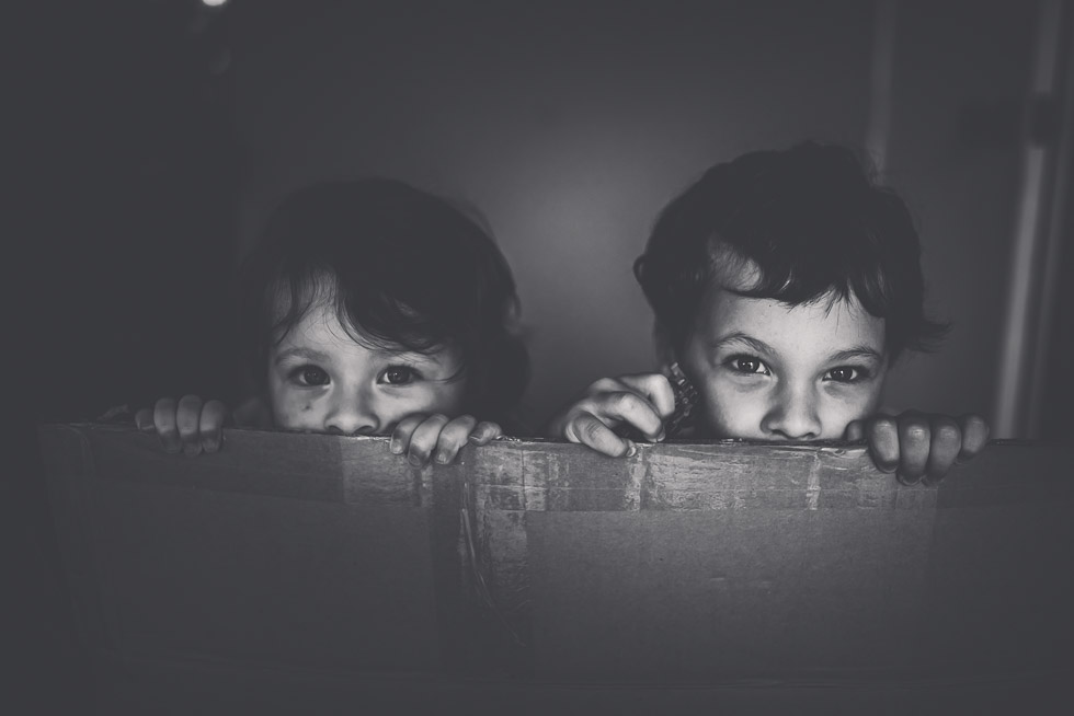 brother and sister in box - My personal moments in 365 Project - November 2016 {NZ family photographer}