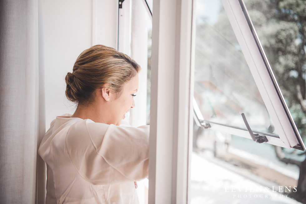 bride near window - The Duke of Marlborough Hotel - Russel wedding {Northland-New Zealand weddings photographer}