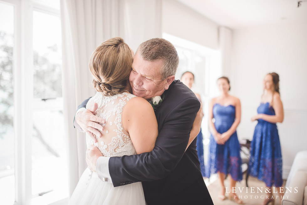bride with her father - The Duke of Marlborough Hotel - Russel wedding {Northland-New Zealand weddings photographer}