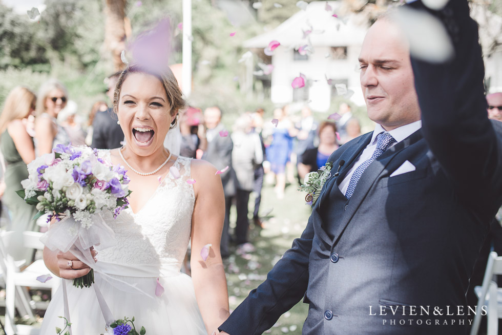 bride and groom - ceremony - The Duke of Marlborough Hotel - Russel wedding {Northland-New Zealand weddings photographer} Pompallier gardens