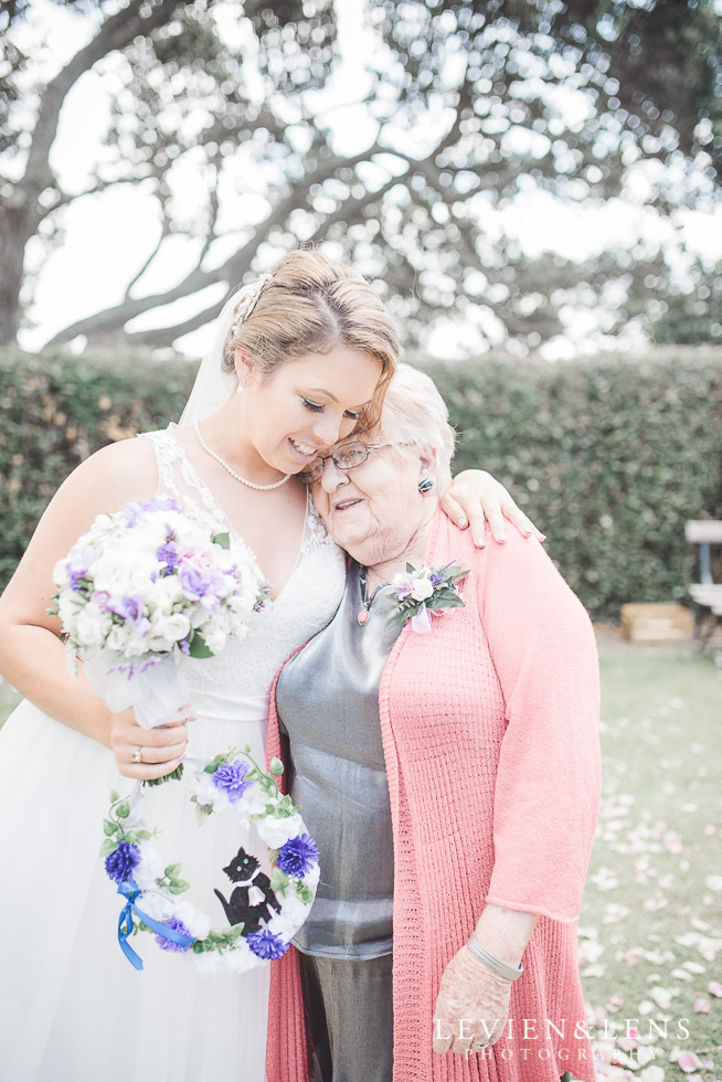 bride with grandmother - Pompallier Mission Garden
