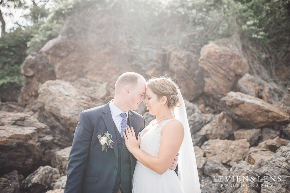 bride and groom - The Duke of Marlborough Hotel - Russel wedding {Northland-New Zealand weddings photographer}