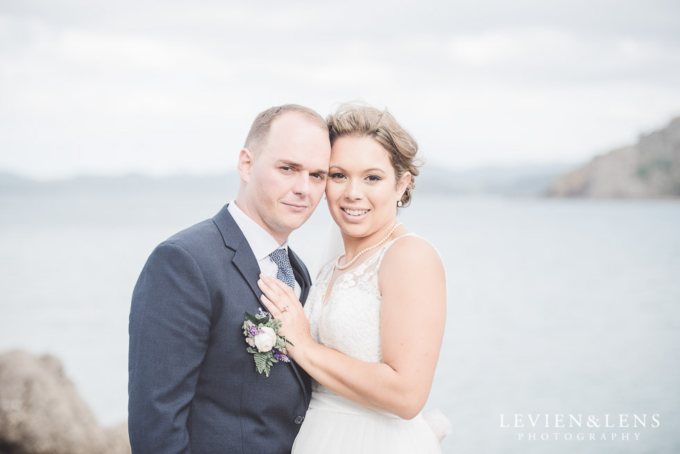 bride and groom portrait {Russel NZ wedding photographer}