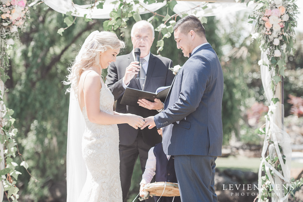 rings at ceremony - Liddington Gardens - Kerkeri Northland {NZ destination wedding photographer}