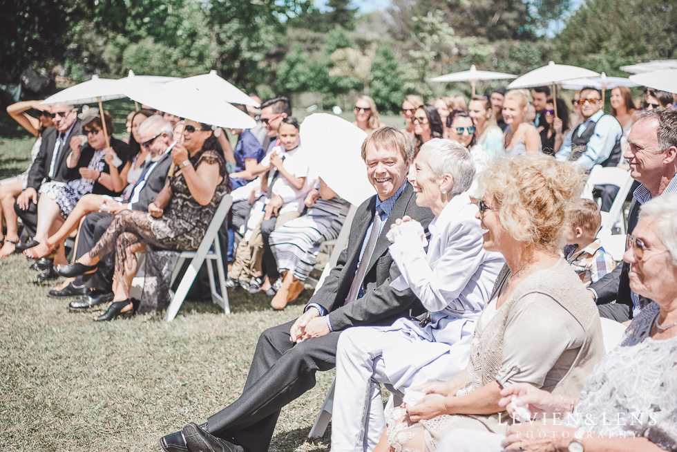 guests - parents at ceremony - Liddington Gardens - Kerkeri Northland {NZ destination wedding photographer}
