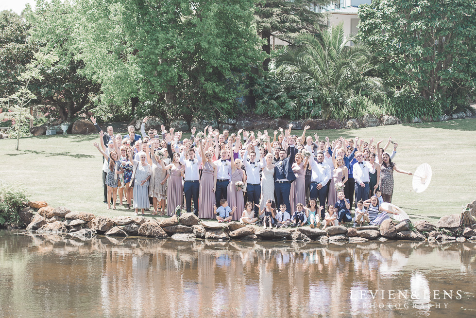 all guest photo at the lake - Liddington Gardens - Kerkeri Northland {NZ destination wedding photographer}