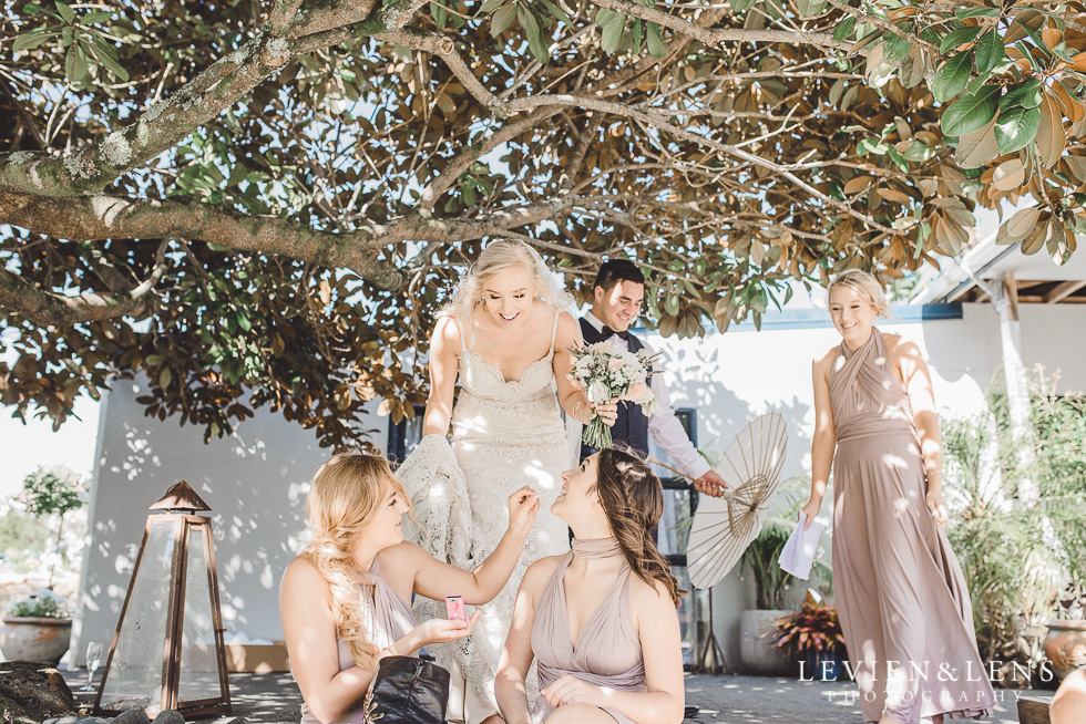 candid moments with bridal party - Liddington Gardens - Kerkeri Northland {NZ destination wedding photographer}