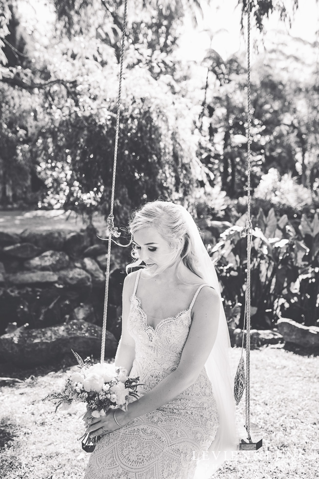 bride on swing {bridal portraiture - Auckland wedding photographer} Liddington gardens}