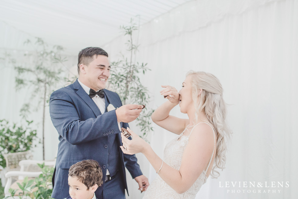 cake cutting - Liddington Gardens - Kerkeri Northland {NZ destination wedding photographer}
