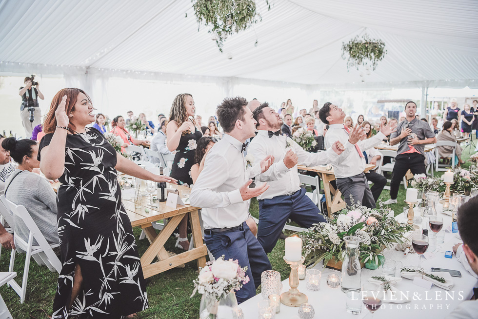 haka dance reception - Liddington Gardens - Kerkeri Northland {NZ destination wedding photographer}
