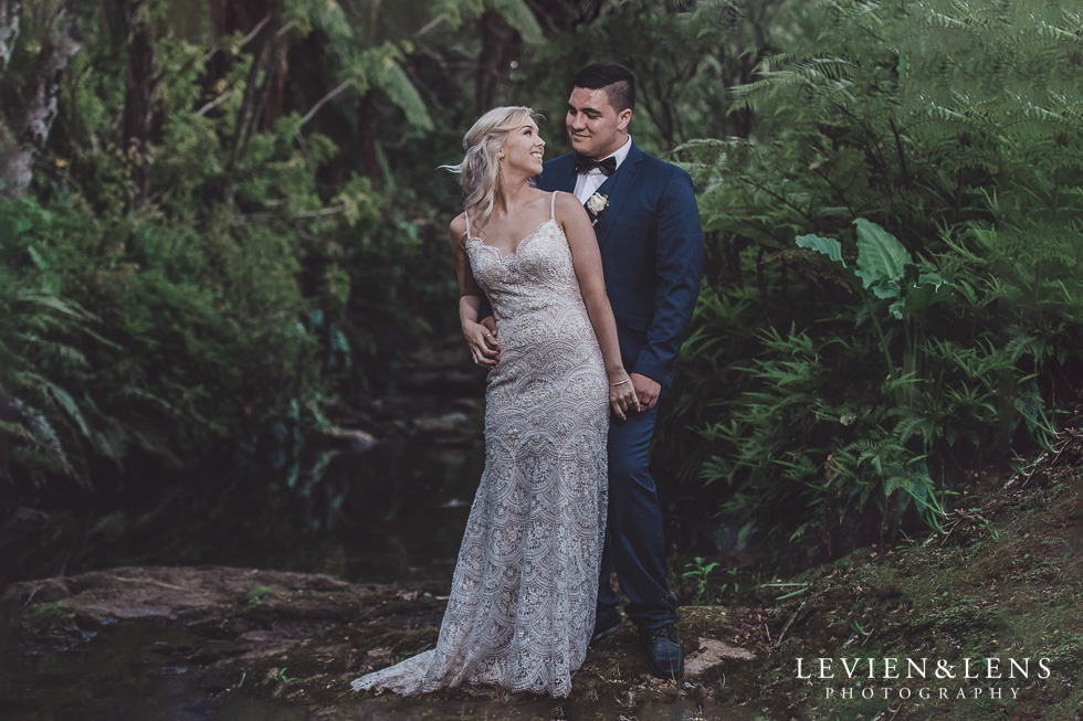 bride and groom portrait - Liddington Gardens - Kerkeri Northland {NZ destination wedding photographer}