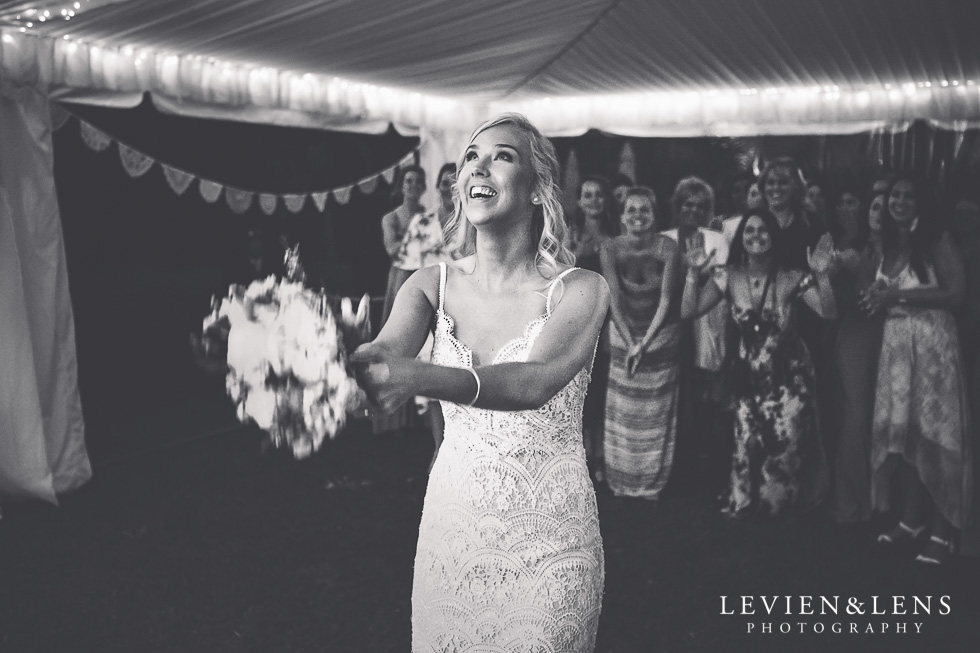 bouquet tossing - Liddington Gardens - Kerkeri Northland {NZ destination wedding photographer}