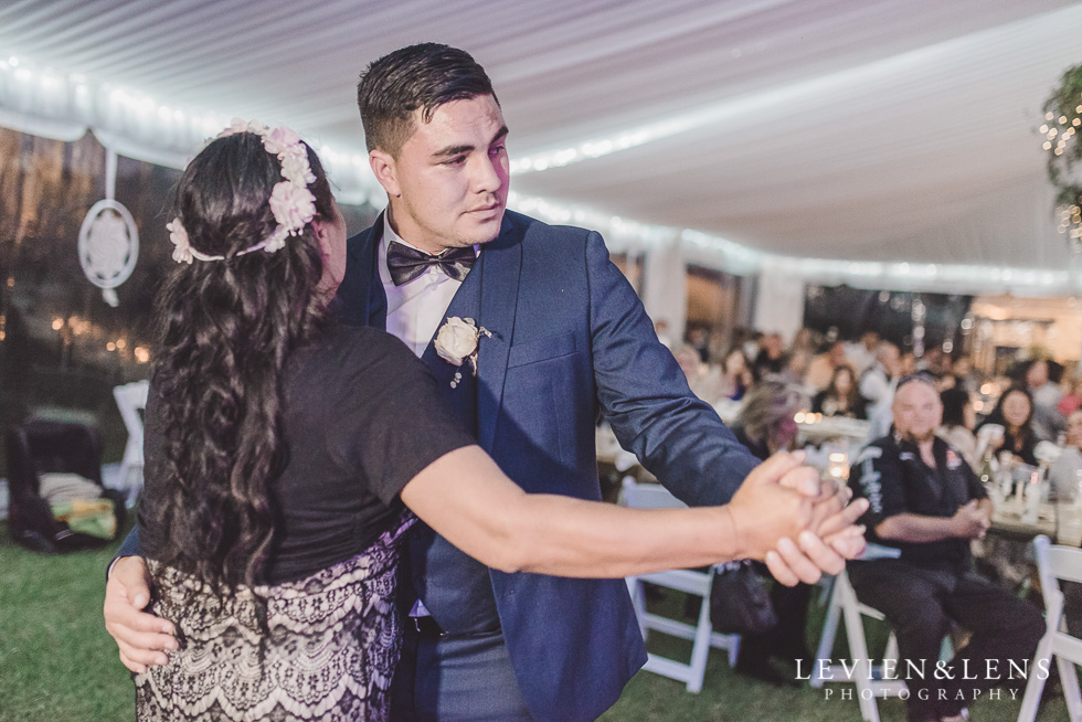 groom with mum dance - Liddington Gardens - Kerkeri Northland {NZ destination wedding photographer}